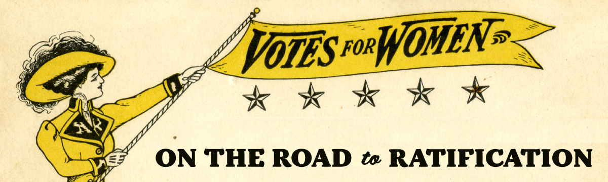 image of women's suffrage banner