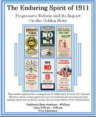 Progressive Reform Enduring Spirit of 1911 Exhibit Poster