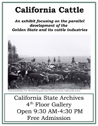 California Cattle Exhibit Poster