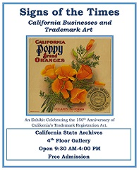 CA Trademarks Registration Poster exhibit