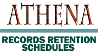 Athena Records Retention Schedules logo