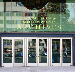 Photograph of the State Archives building