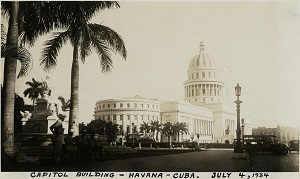 96-07-08-alb11-117, El Capitolio in Havana served as Cuba's Capitol from its completion in 1929 until after the Cuban Revolution of 1959. This photograph was taken in 1934
