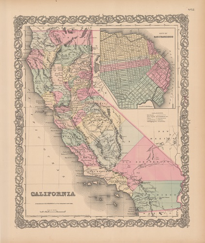 Map of California from 1855