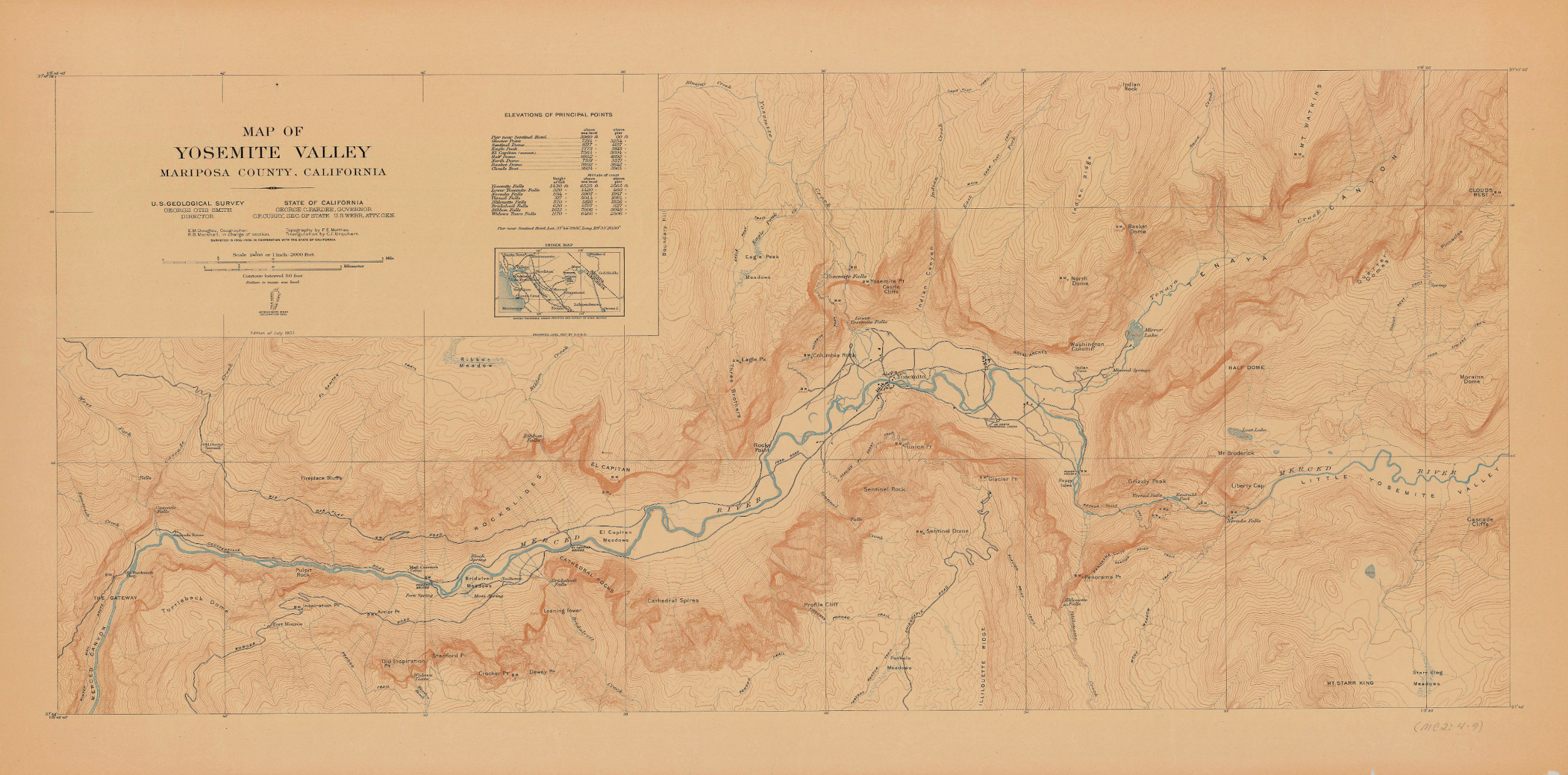 Topographical Map of Yosemite Valley | California Secretary of State
