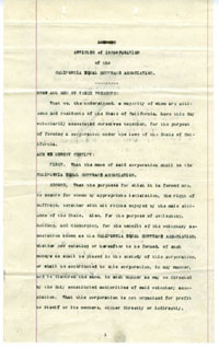 Articles of Incorporation, California Equal Suffrage Association