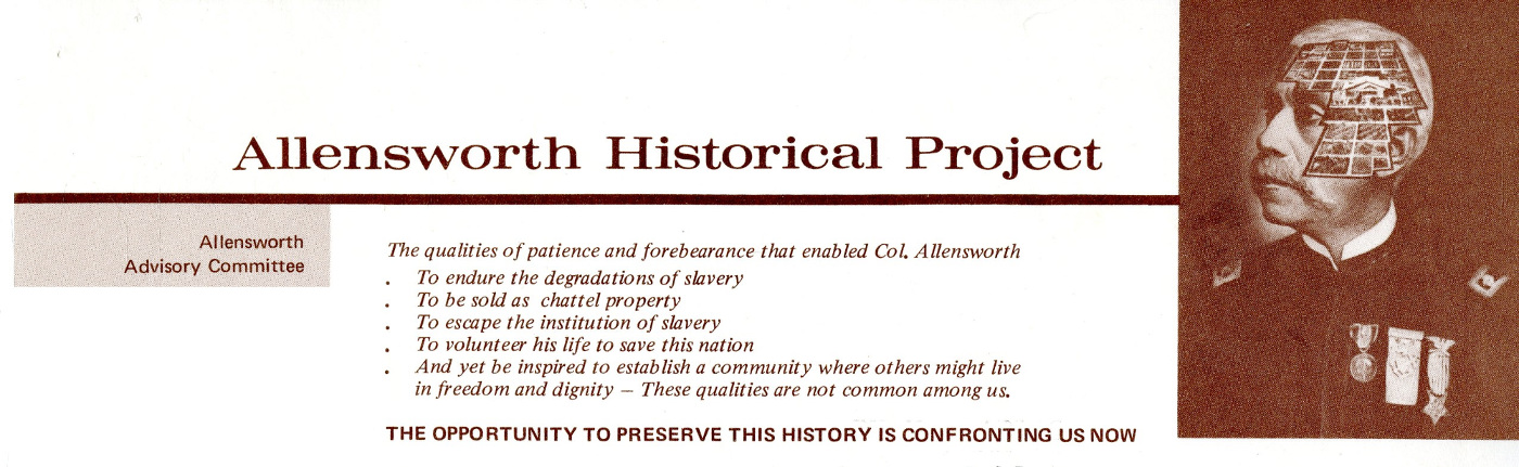 Letterhead for the Allensworth Historical Project